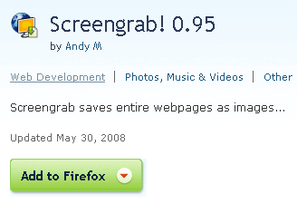 save web-page as image with Screengrab