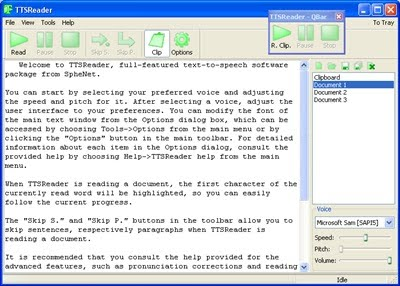 Freeware to convert Text to Mp3 or Wave format
