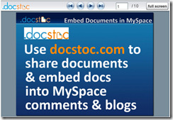 online document storage and sharing with docstoc
