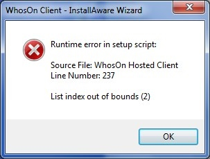 Setup Error - Parker Software Forum