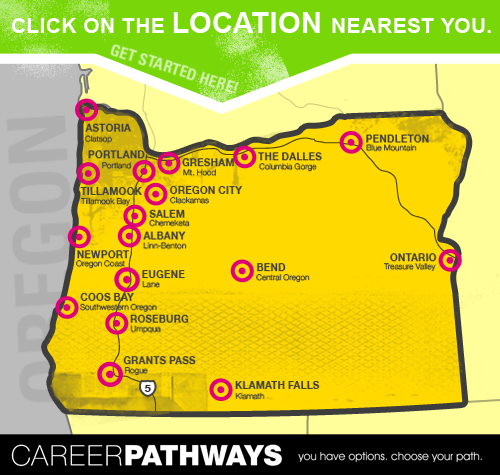 Oregon Colleges Map INFORMATION ON GRADUATING AND PATHWAYS   COLLEGE AND CAREER CENTER