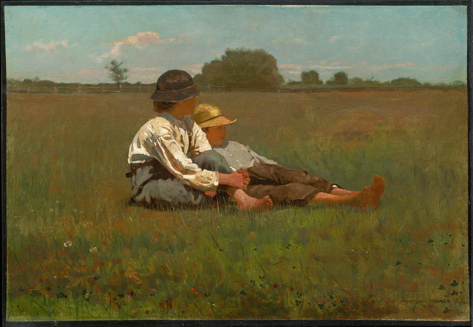 """Boys in Pasture"" Winslow Homer 1874"