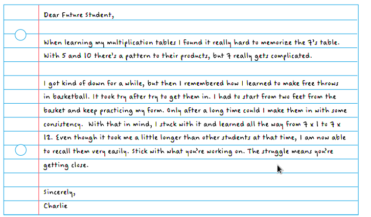 Sample Letter From This Year S Students To Next Year S Students
