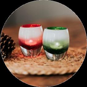 Glass Candle Holder Set