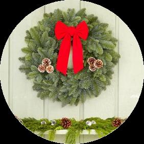 22 Inch Noble Fir Wreath