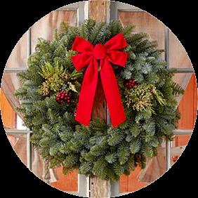 28 Inch Mixed Evergreen Wreath