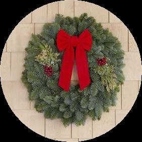 22 Inch Mixed Evergreen Wreath