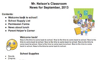 Classroom Newsletters Using Google Docs TTSD School Technology - How to make a newsletter in google docs