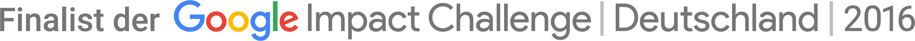 Finalist der Google Impact Challenge 2016