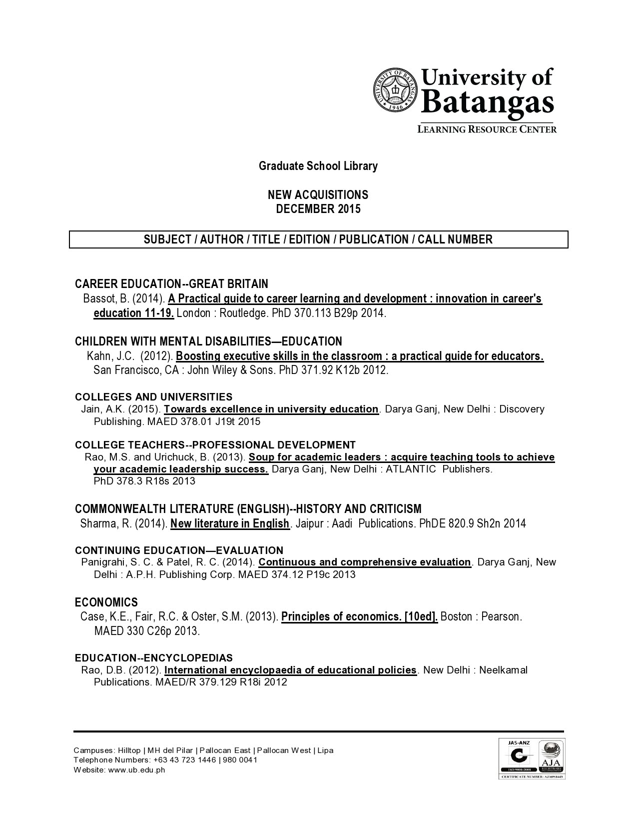 Principles of economics case fair array new acquisitions for december 2015 graduate school library rh sites google com fandeluxe Gallery