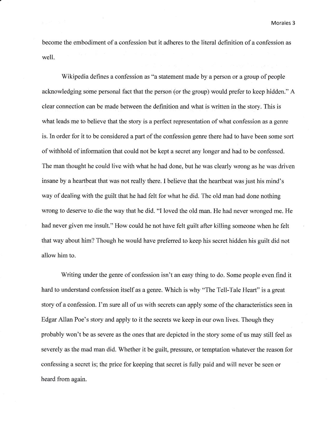 Edgar allan poe essay on writing
