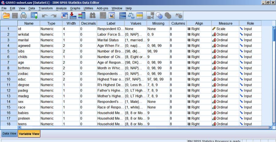 Information on using spss
