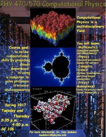PHY 470/570 - Computational Physics - Ivan Sudakov | The