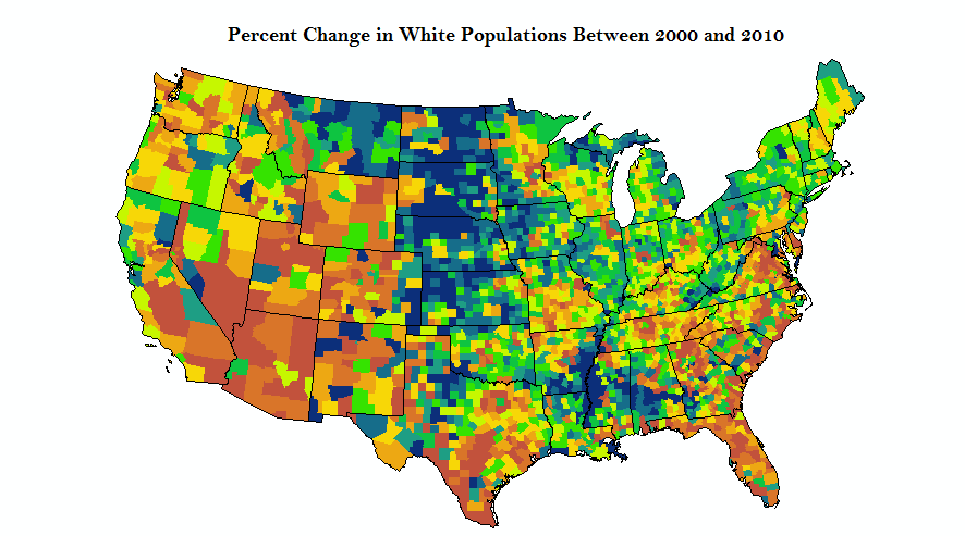 it appears that the white population is relatively constant but more whites are living in the western u s while less are living in the midwest