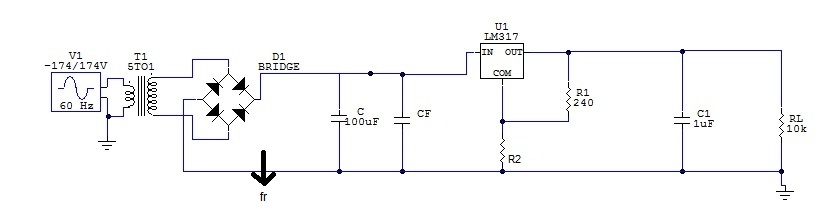 Circuito Regulador De Voltaje : Regulador de voltaje ajustable analógica