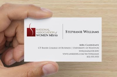 Professional development national association of women mbas business cards are a must if you are looking to use your mba to start up your career switch industries or re brand yourself colourmoves