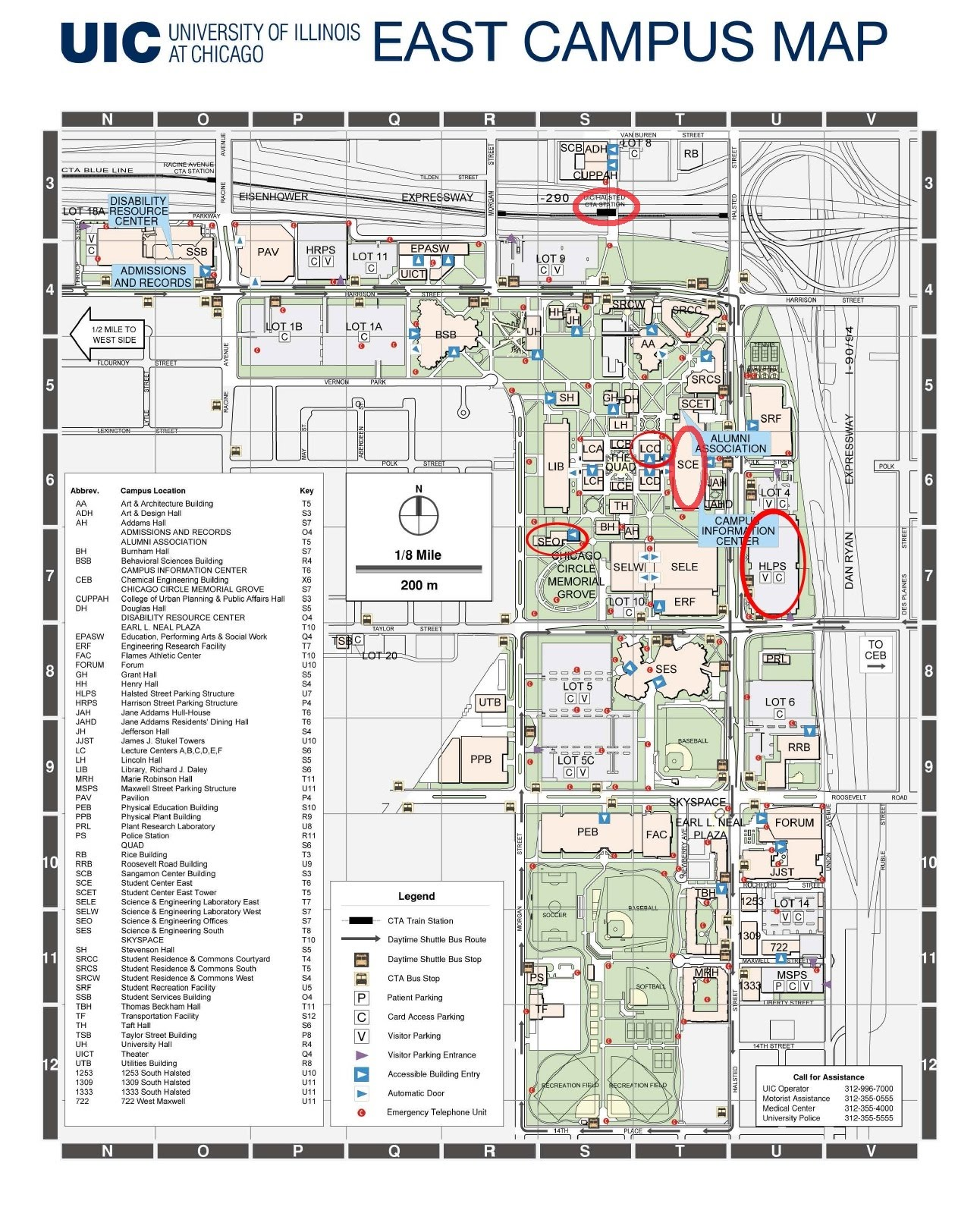 Map of UIC East Campus - Chicago Area SIAM Student ...