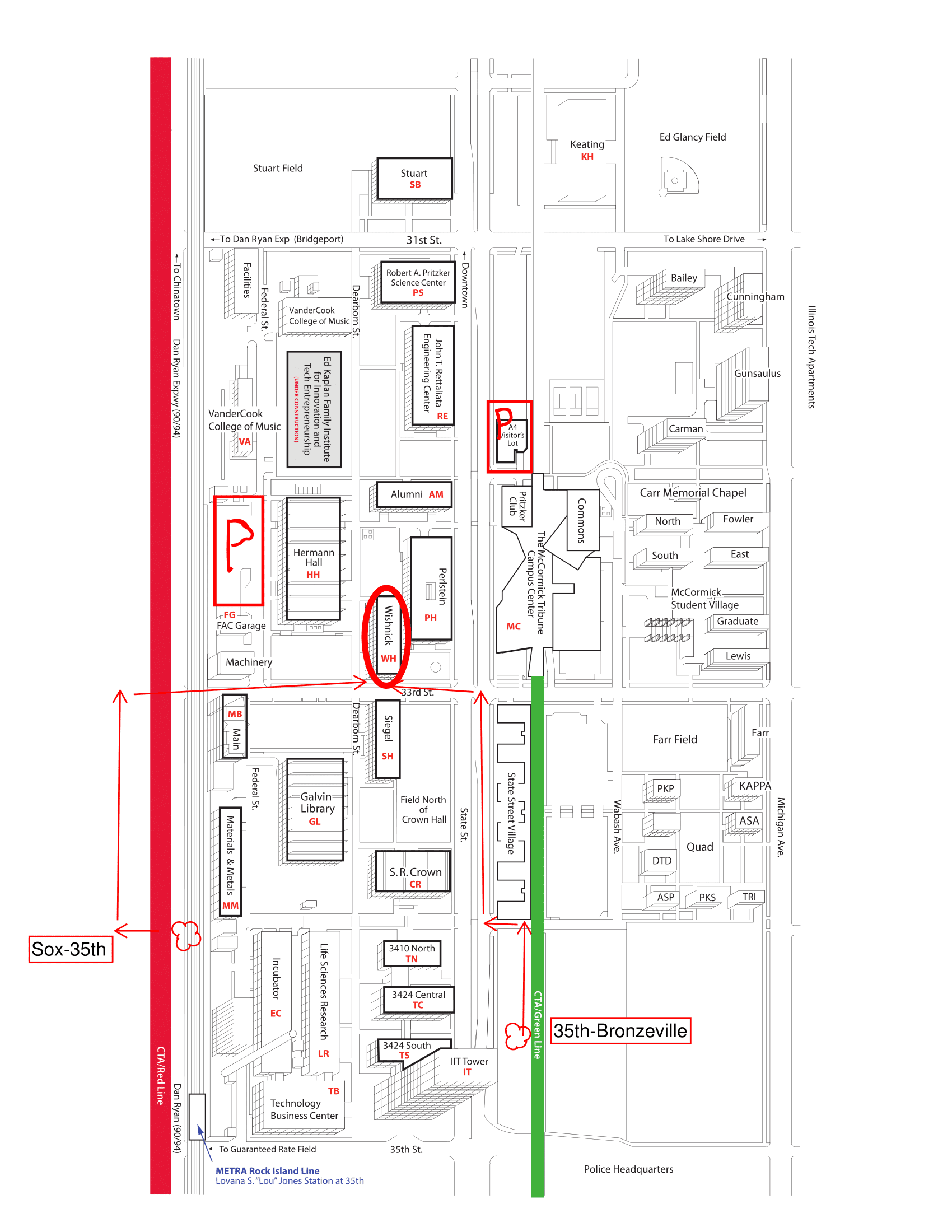 Map of IIT   Chicago Area SIAM Student Conference 2018