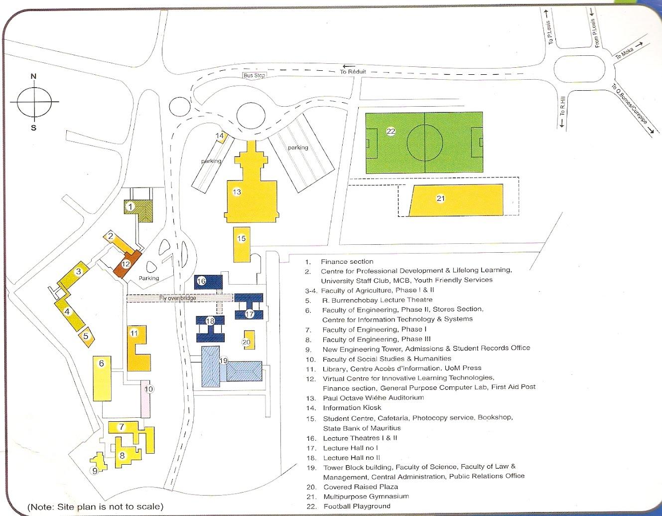 Map Of UOM University Of Mauritius - Mauritius map
