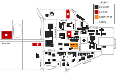 4 - Campus Map - The University of Manitoba Engineering Society Umes Map on marshall map, lafayette map, lipscomb map, mercer map, austin peay map, xavier map,