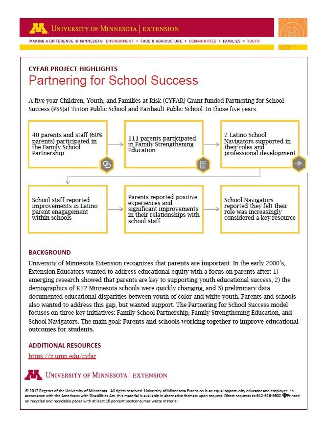 CYFAR Partnering for School Success (Credit: Anna Alba)