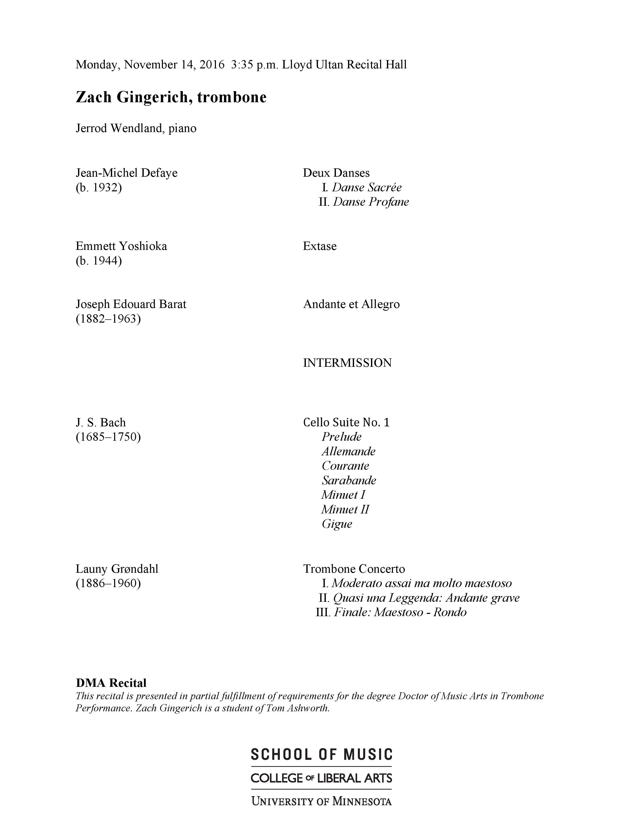Recital Program Format Erkalnathandedecker