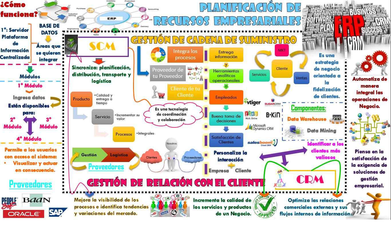 Infografías Erp Crm Scm