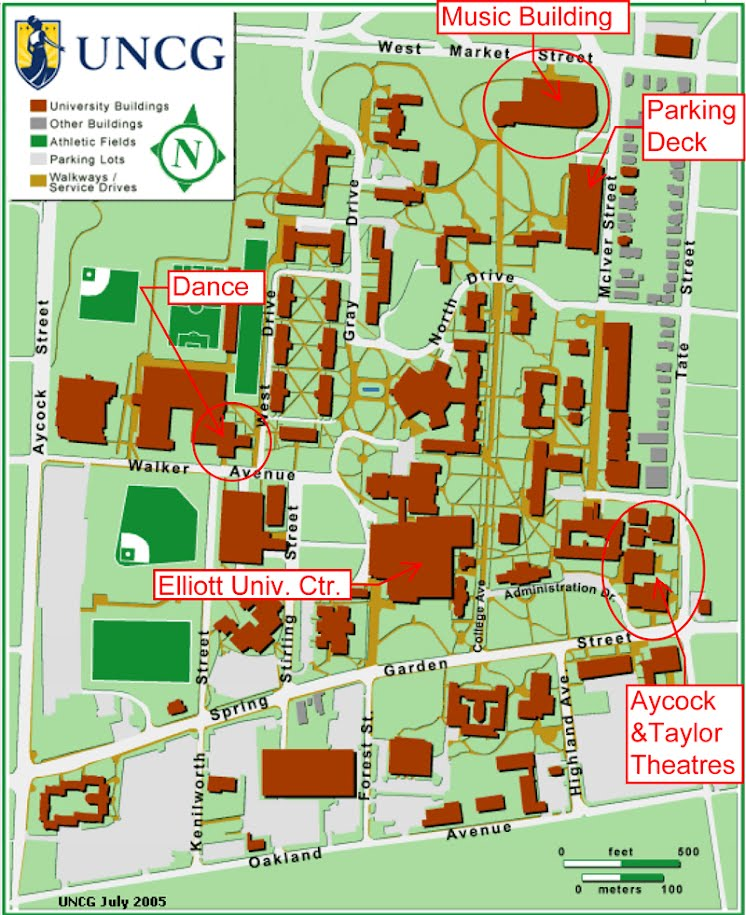Unc Greensboro Campus Map.Campus Map The Art Of Public Memory Conference