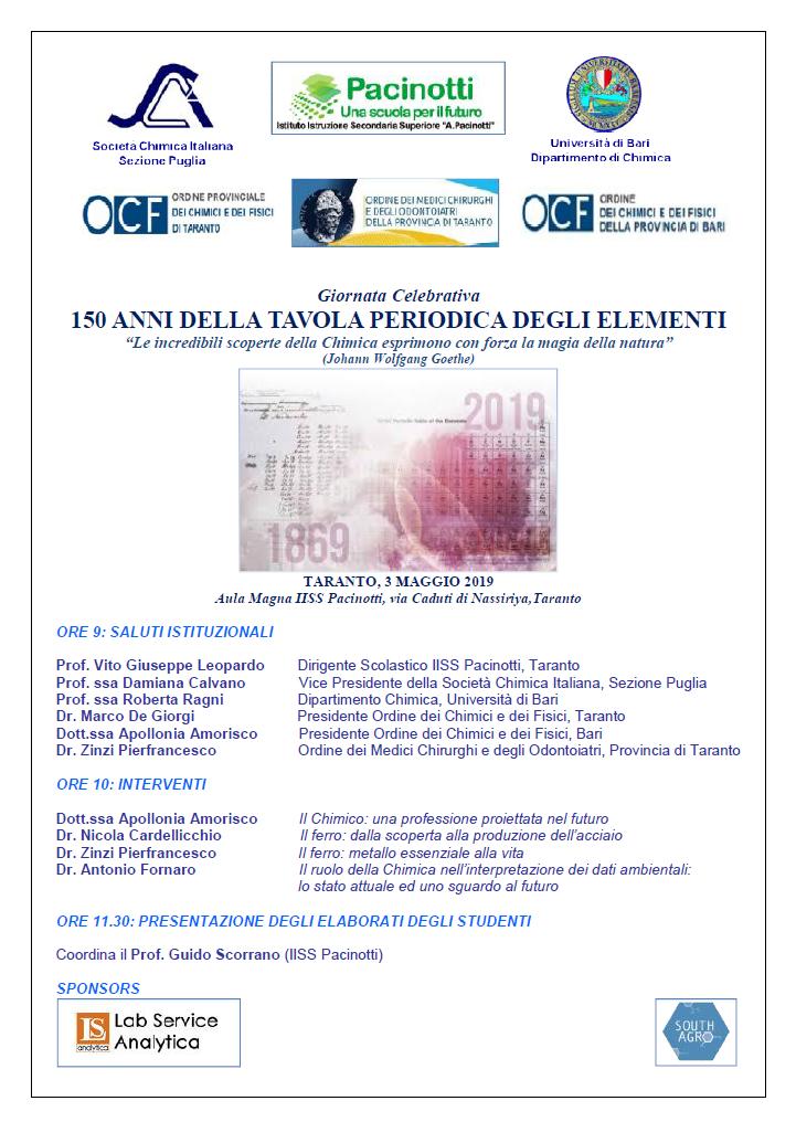 Calendario Esami Ingegneria Unical.News Attivita Sezione Puglia Della Societa Chimica Italiana