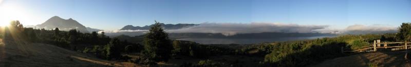Panorama area Coñaripe da Traitraiko Alto