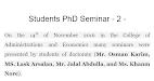 Students PhD Seminar - 2 -