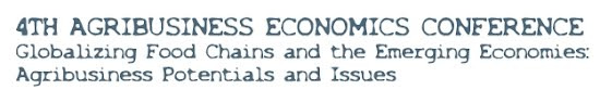 4th Agribusiness Economics Conference