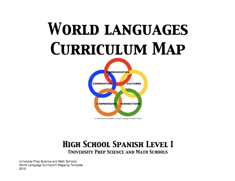 World Language Yearlong Scope Sequence Level Spanish I II - 1 world language