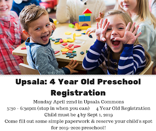 Best Place To Register For Baby 2020 Preschool Pals   Upsala Community Education