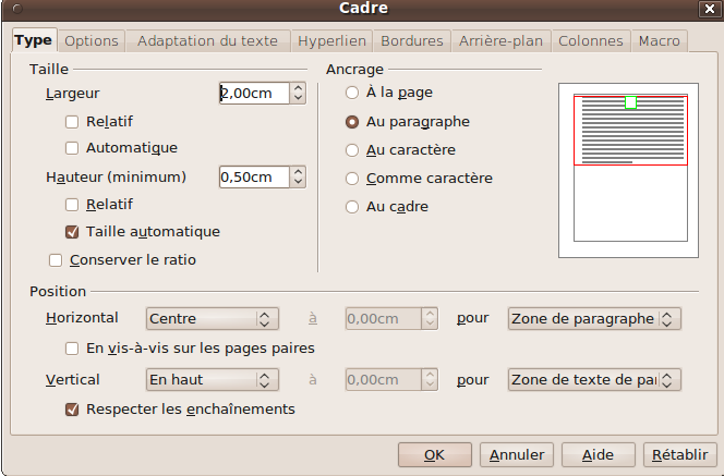 Open office utl club informatique - Comment faire un organigramme sur open office writer ...