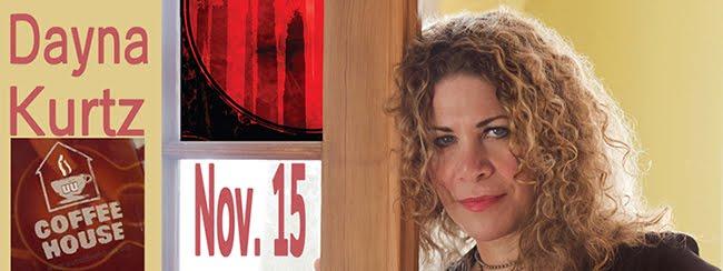 Dayna Kurtz performs Nov. 15, 2014 at the UU Coffeehouse.