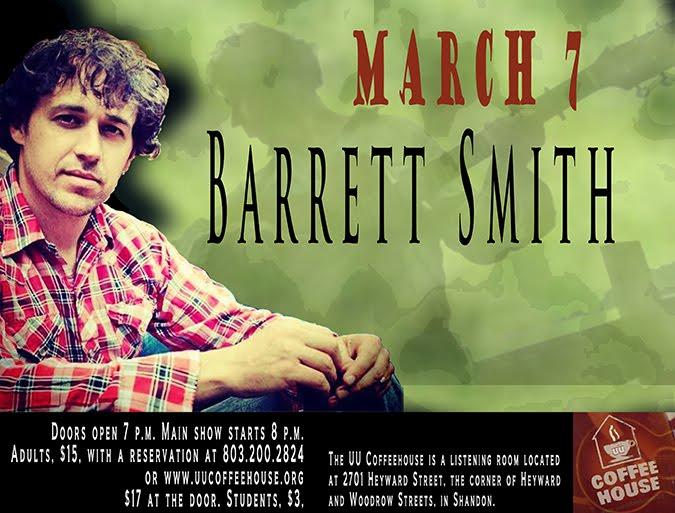 Barrett Smith, March 7, 2015 at the UU Coffeehouse