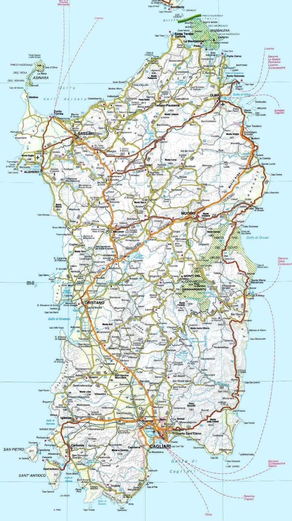 Cartina Sardegna Regioni.Sardegna Le Regioni D Italia A