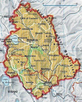 Cartina Marche E Umbria.Umbria Le Regioni D Italia A