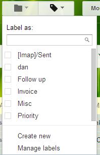 labels menu