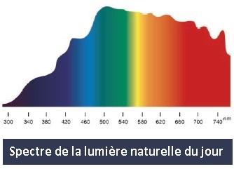 Spectre de la lumière du jour