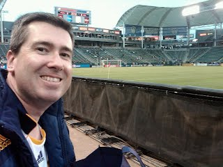 Warren Ernst at an LA Galaxy Game