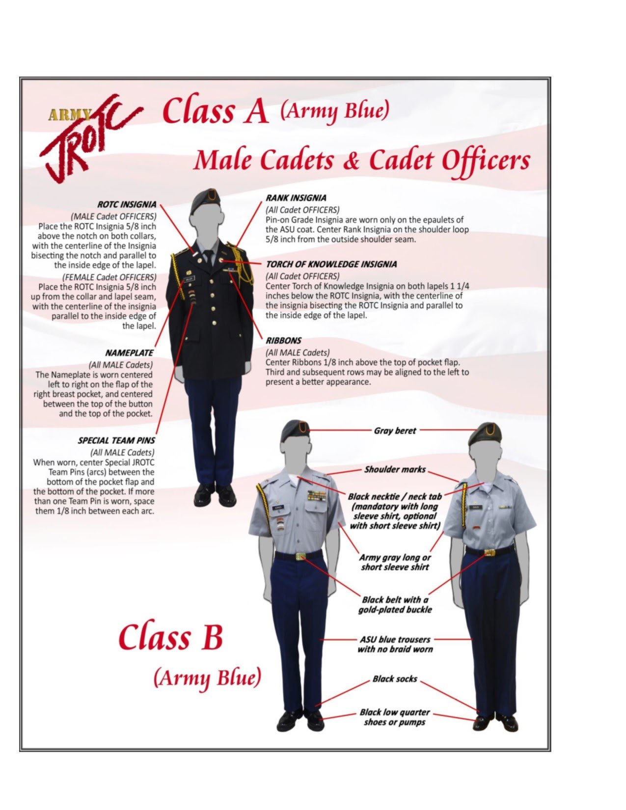 Sorry, that jrotc class b uniform