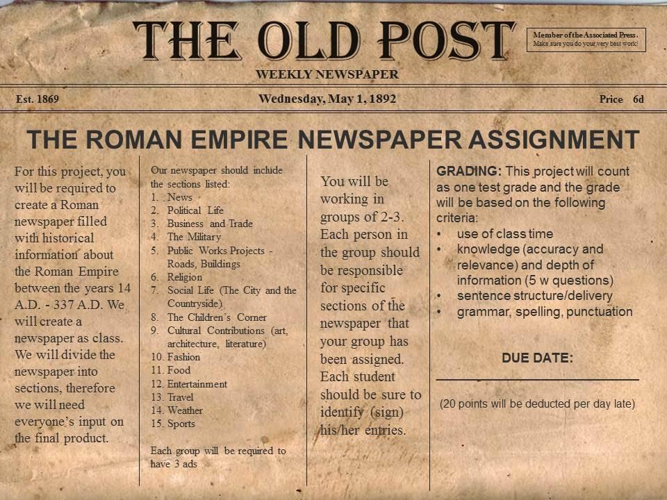 ancient rome publication articles