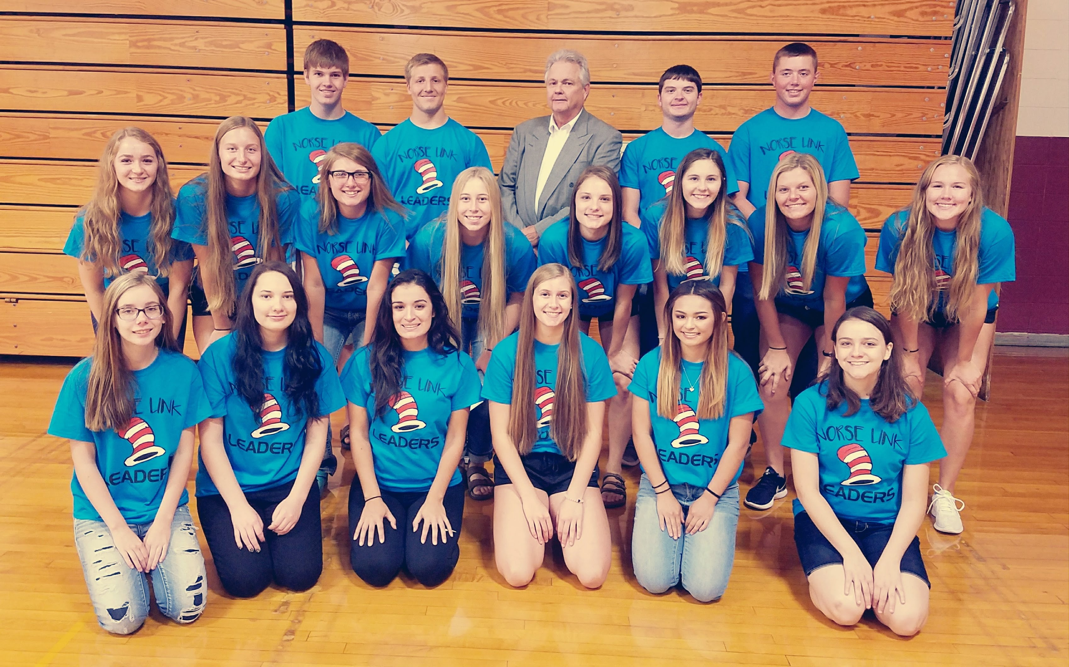 Our Norse Link leaders and incoming freshmen had the privilege of listening to Tom Thibodeau.  It's going to be a great school year thanks to his positive words!