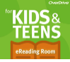 Overdrive image with link to kids & teens ebook collection