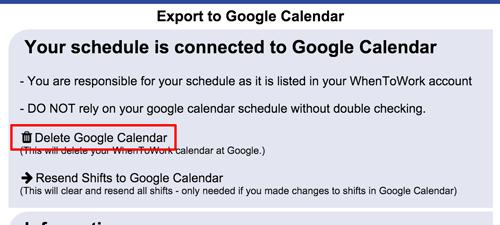 delete google calendar