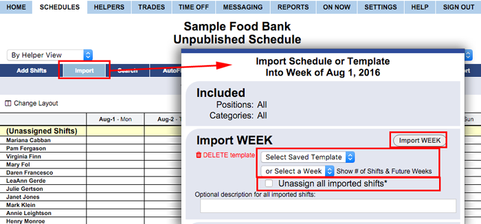 import schedule