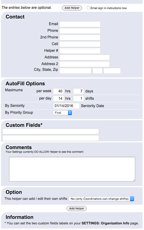 optional helper entries