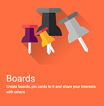 Pin cards on your boards